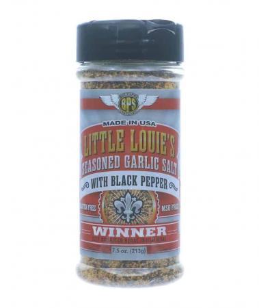 R098 - Big Poppa Smokers 'Little Louie's'Garlic Salt with Black Pepper - 212g (7.5 oz)01