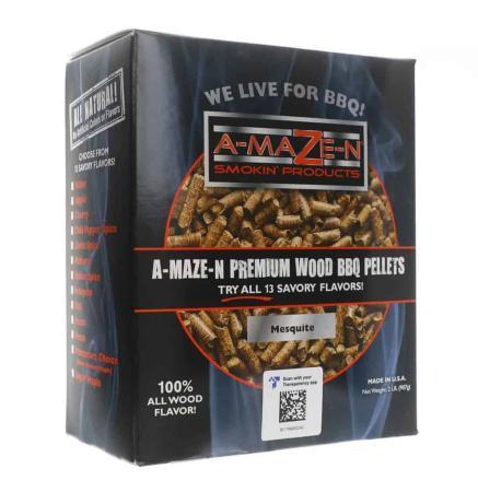 A040 - A-Maze-N Wood BBQ Pellets - Mesquite BBQ Pellets - 904g (2lb - 32 oz)12