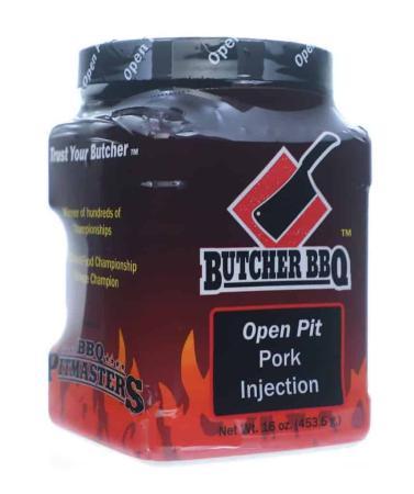 I014 – Butcher BBQ 'Open Pit' Pork Injection – 453g (16 oz)12