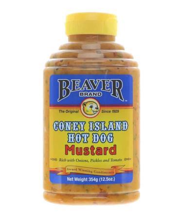 M012 – Beaver Brand 'Coney Island Hot Dog' Mustard – 354g (12.5 oz)01