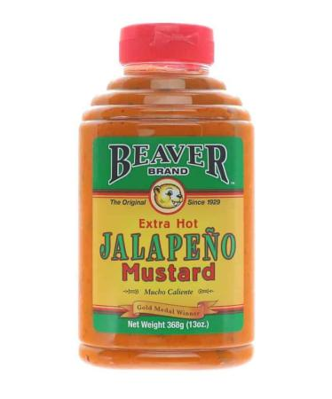 M013 – Beaver Brand 'Extra Hot Jalapeño' Mustard – 368g (13 oz)01