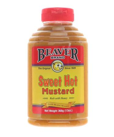 M014 – Beaver Brand 'Sweet Hot' Mustard – 368g (13 oz)01