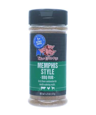 R060 - Three Little Pigs BBQ Memphis-Style BBQ Rub - 177g (6.25 oz)01