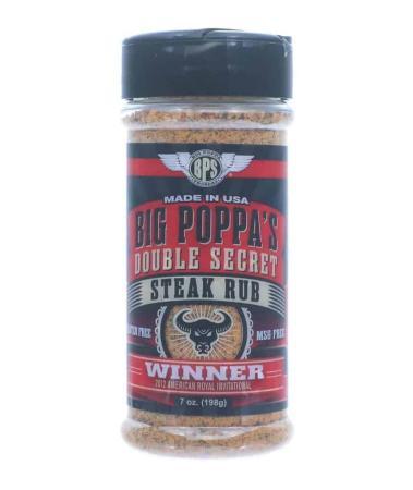 R090 – Big Poppa Smokers 'Double Secret' Steak Rub – 198g (7 oz)01