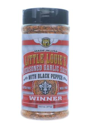 R099 – Big Poppa Smokers 'Little Louie's' Seasoned Garlic Salt Black Pepper – 411g (14.5 oz)01