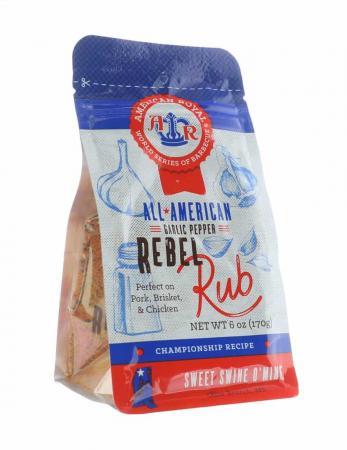 R340 - American Royal - Garlic Pepper Rebel Rub (Sweet Swine o' Mine BBQ) - 170g (6 oz)12