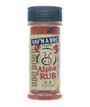 R129 – BBQ Bob's Hav'n-a-BBQ Alpha BBQ Rub – 170g (6 oz)01