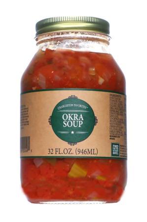N030 - Food for the Southern Soul 'Charleston Favorites' Okra Soup - 946ml (32 oz)01-2