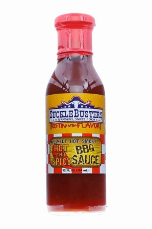 S279 - Sucklebusters Hot & Spicy BBQ Sauce - 340g (12 oz)01